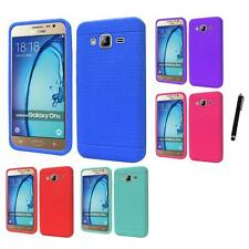 For Samsung Galaxy On5 Rugged Thick Silicone Grip Soft Skin Case Stylus Pen