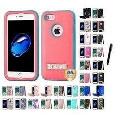 For Apple iPhone 7 [4.7] Hard TUFF IMPACT Case Cover Rugged Armor Stylus Pen