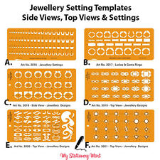 Drawing Drafting Template Stencil Settings Side Top View Rings Jewellery Design