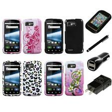 For Motorola Atrix 2 MB865 Design Snap-On Hard Case Phone Cover Charger Stylus