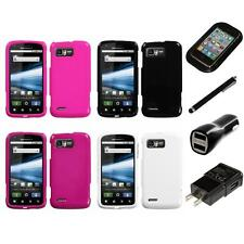 For Motorola Atrix 2 MB865 Rigid Plastic Hard Snap-On Case Cover Charger Stylus