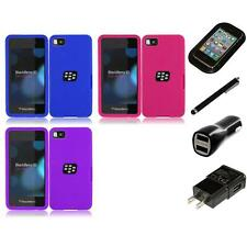 For BlackBerry Z10 Silicone Skin Soft Rubber Case Phone Cover Charger Stylus