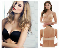 Wacoal Amazing Assets Strapless Multiway Push Up Bra 854220 Black or Nude * New