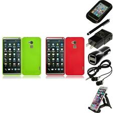 For HTC One Max Rubberized Matte Snap-On Hard Case Phone Cover Accessories