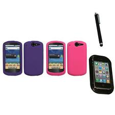 For Huawei Impulse 4G U8800 Silicone Skin Rubber Soft Case Cover Mount+Pen