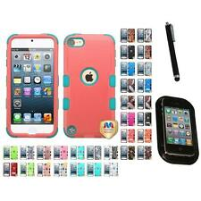 For Apple iPod Touch 5th 6th Gen Hybrid TUFF IMPACT Case Hard Cover Mount+Pen