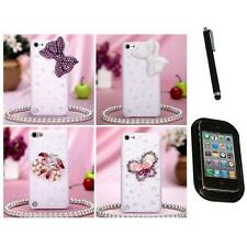 For Apple iPod Touch 5th 6th Gen Diamond Bling Rhinestone Case Cover Mount+Pen