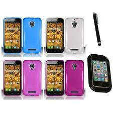 For Alcatel One Touch Fierce 7024W TPU Rubber Case Phone Cover Mount+Pen