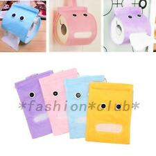 Hot Bathroom Toilet Wall-mounted Paper Tissue Cover Plush Cloth Box Case Holder
