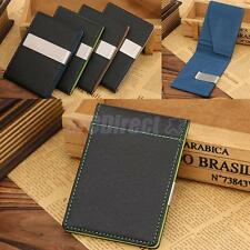 LUXURY NEW SOFT PU LEATHER CREDIT CARD HOLDER SLIM WALLET MONEY CLIP MENS GIFT