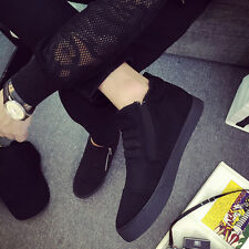 Hot Fashion Warm Mens Shoes Leather Shoes Casual High Top Shoes Canvas Sneakers