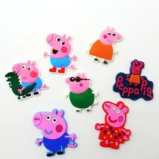 10pcs Pink Pigs Flatback DIY Craft PVC Charm Accessory for Phone Case Child Gift