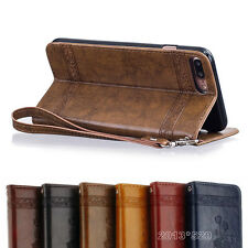 Leather Magnetic Flip Wallet Cards Holder Case Cover For iPhone 7 7 Plus 6 6s 5