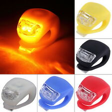 1/ 2pc LED Bicycle Bike Cycling Silicone Head Front Rear Wheel Safety Light Lamp