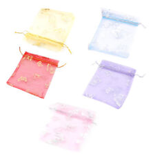 Organza Butterfly Pattern Jewelry Packing Pouch Wedding Party Gift Bag 50 Pcs