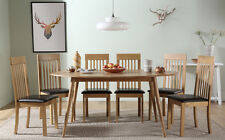 Suffolk Oval Oak Dining Room Table & 4 6 Oxford Chairs Set (Brown)
