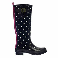 Joules Ladies Patterned Welly Shoes Yard Boots Rubber Footwear