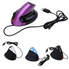 Wired Upright Vertical Optical Ergonomic Gaming Mice USB Mouse 5D For Computer