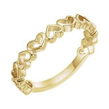Open Heart Stackable Ring in 14k Yellow Gold