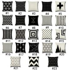17'' Square Cotton Linen Throw Pillowcase Cushion Cover Christmas Decor-23 Types
