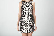 NWT COREY BY COREY LYNN CALTER Leopard Print Cotton Stretchy Dress Made USA $257