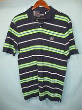 NWT Chaps Navy Blue and Green Striped Men's Polo Shirt