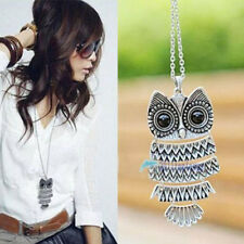 New Women Fashion Vintage Style Bronze Owl*Long Chain Necklace Pendant Jewelry