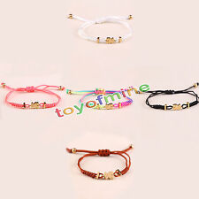 Titanium Steel Cute Braided Nylon Cord Bracelet Women's Fashion Bangle Rope