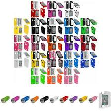 For iPhone 4 4S Hybrid Tuff Rugged Hard/Soft Cover Case+Car Charger+LCD