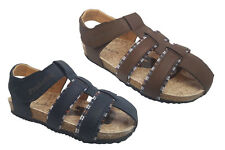 Boys Shoes ProActive Gareit Navy/Chocolate Sandals Size 8-13 New Adhesive Tab