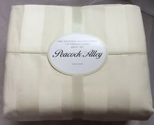 $755 Peacock Alley 550TC 100% Egy Cotton Sateen xDEEP xBIG  King Sheet Set Ivory