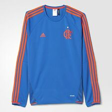 Flamengo Blue Coat Soccer Football Jersey Shirt - 2016 Adidas Brazil