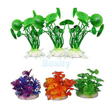3 PCS Simulation Aquatic Plastic Plants Aquarium Ornament Decor 3 Colors