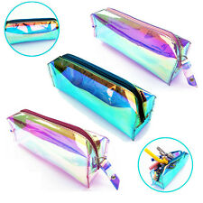 Large Double Zip Fabric Pencil Case - Ideal For School/College/Uni.- Make up Bag