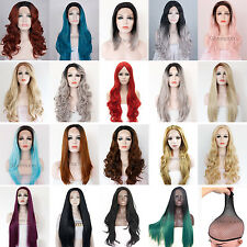 Lot Cosplay Wig PartyCostume FancyDress Lace Front Long Wavy Heat Resistant Hair