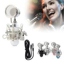 Pro Condenser Dynamic 3.5mm Stereo MIC Sound Studio Recording Microphone + Stand