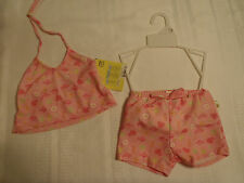 PLAY BABY Size 12 or 18 Month Pink Swimsuit Swim Diaper Girls Shortini Set NWT