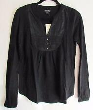 Lucky Brand Embroidered Blouse 7WD6399 Black XS S M NWT