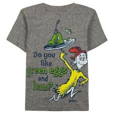 "New Dr. Seuss Toddler ""One Fish, Two Fish"" Gray Tee: Sizes 4T & 5T"