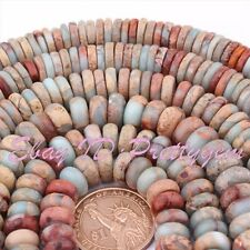 Natural Shoushan Stone Multicolor Rondelle Gemstone Beads 15 Inch  2x5mm  5x10mm