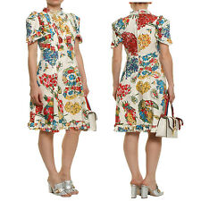 Gucci Printed Cotton Dress size 38 40 42 Multi-colored Floral maxi gown runway