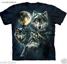 Grey Wolves Moon Wolf T-Shirt/Cool Blue Grey Tie Dye Wolf Tee-Wolf Lovers Gift