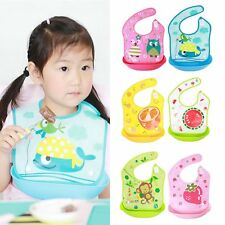 Cute Unisex Baby Waterproof Lunch Bibs Infants Kids Cartoon Saliva Towel Bibs