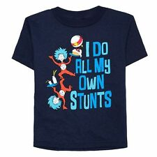 "NWT Dr. Seuss Thing 1 & Thing 2 - ""I Do All My Own Stunts "" Tee: Toddler Boys 4T"
