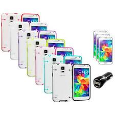 For Samsung Galaxy S5 Hybrid Hard TPU Case Cover + LCD Film+Charger