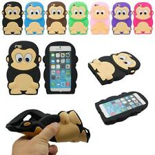 3D Cartoon Animal Cute Monkey Soft Silicone Cover Case For Apple iPhone 6 6s 4.7