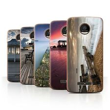 STUFF4 Phone Case/Back Cover for Motorola Moto Z Force/Droid /English Seaside