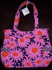 VERA BRADLEY PLEATED TOTE LOVES ME FORMER BREAST CANCER AWARENESS PATTERN