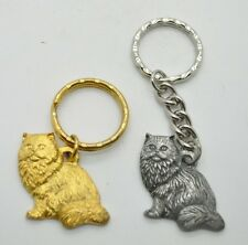 RAWCLIFFE Fine Pewter 1984 Cat I LOVE MY HIMALAYAN Key Chain Love Kitty