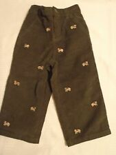 GYMBOREE 12-18 or 18-24 Month Grizzly Lake embroidered Corduroy Pant NWT